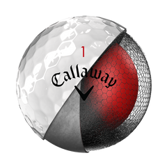 callaway chrome soft ballen wit