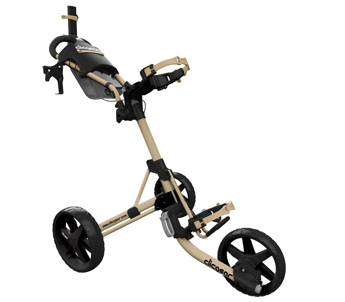Clicgear Model 4.0 - 3 Wiel Trolley - Army brown