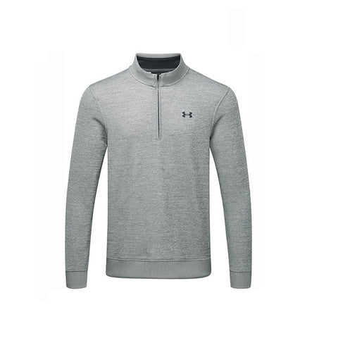 Under Armour Sweater Fleece Met Korte Rits Grijs