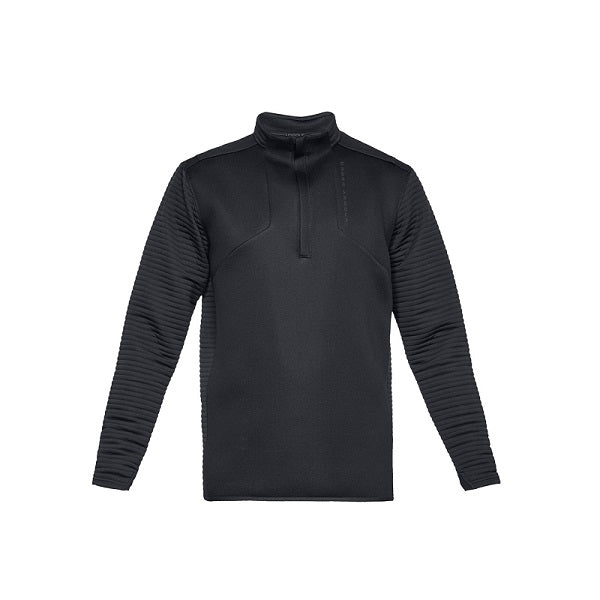 Under Armour Heren Shirt Daytona Korte Rits Zwart