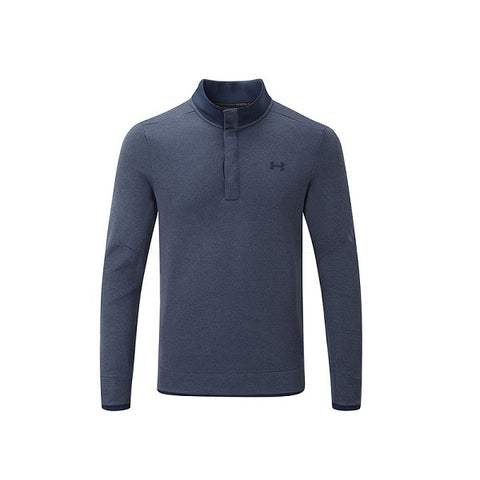 Under Armour Sweater Fleece Heather Snap Navy