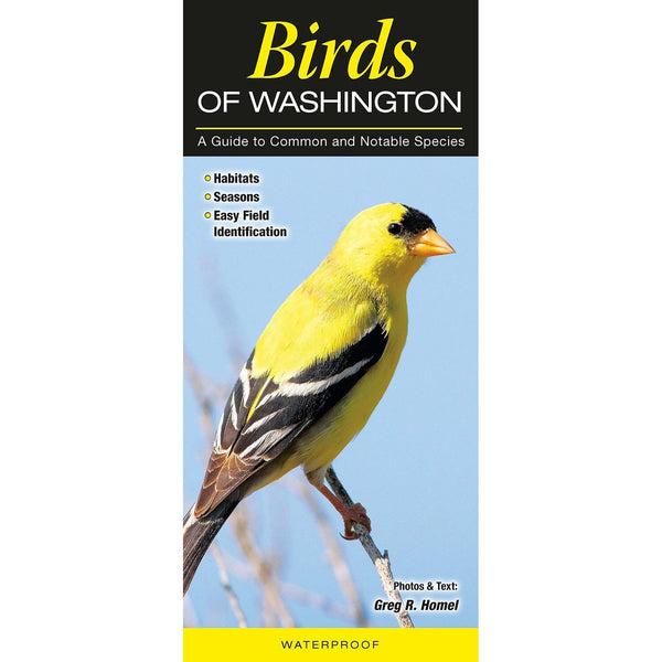 Birds of Washington Laminated Pamphlet, 12pp, 4.5 x 10