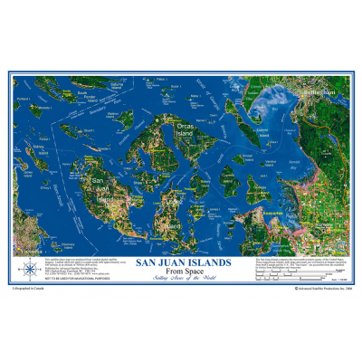 SAN JUAN ISLANDS Placemat - View from space