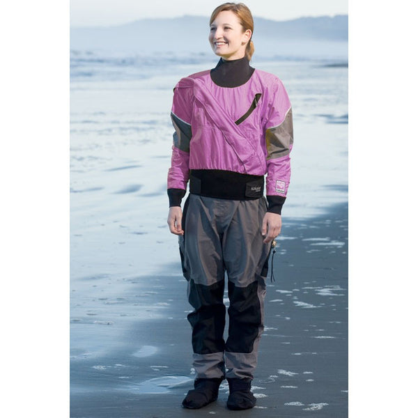 Kokatat Women's GORE-TEX® Meridian Dry Suit with Drop Seat and Socks - Violet, Size: M