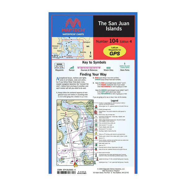MapTech Waterproof Chart - The San Juan Islands