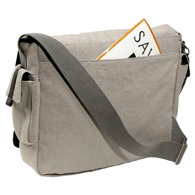 Fullsize Canvas Messenger Bag with Laptop Storage