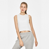 Cozy Crop Tank Top - Off-White