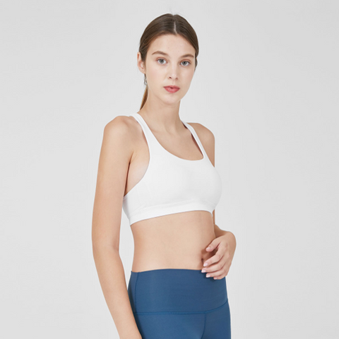 Power Sports Bra - White
