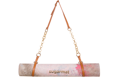 Luxe Caramel Yoga Mat Carrier - goYOGA Outlet