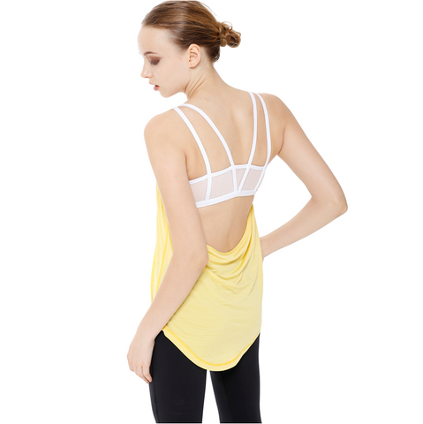 AUMNIE Tryst Tank Yellow-White - goYOGA Outlet
