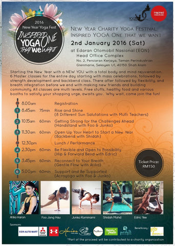 New Year Charity Yoga Festival - goYOGA Outlet