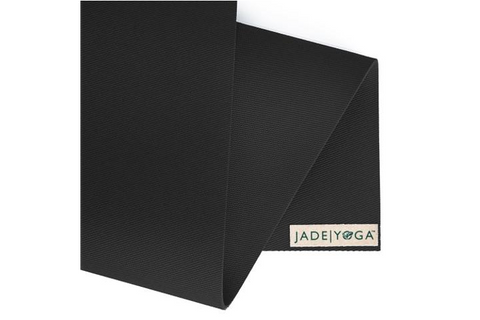 "Jade Yoga - Travel Mat 68"" Black - goYOGA Outlet"