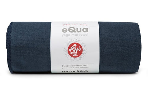 Manduka eQua Mat Towel - Midnight - goYOGA Outlet