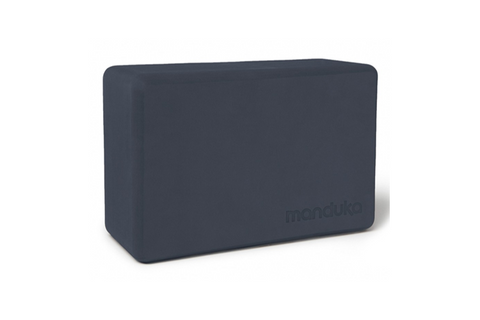 Manduka Recycled Foam Block - Midnight - goYOGA Outlet