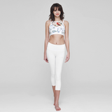 (TOP) MT0262 - White Vineflowers - goYOGA Outlet