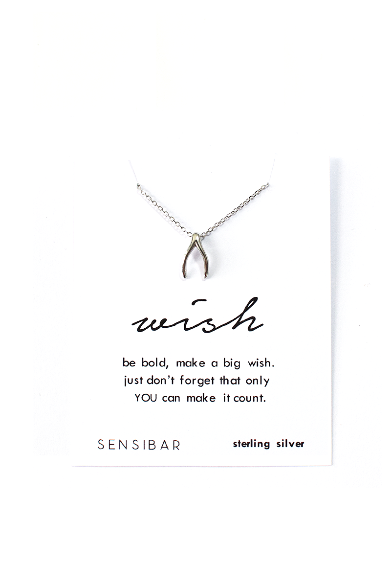 Wishbone Necklace (Sterling Silver)