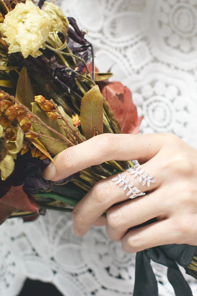 Leaf Wrap Ring (Silver)