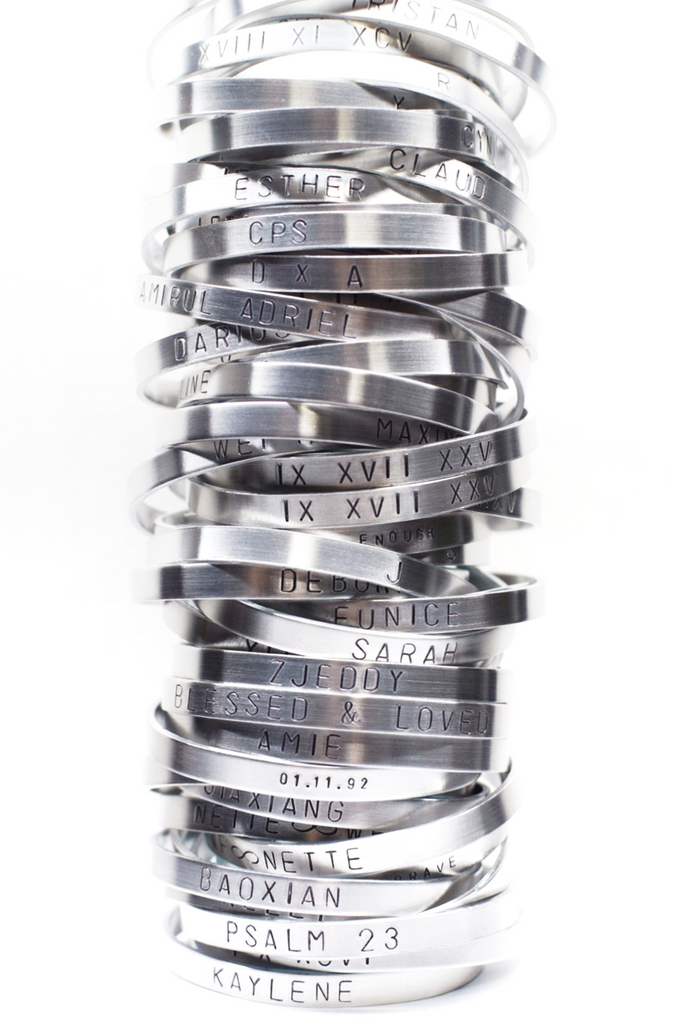 CUSTOMIZED | <br>Cuff Bracelet (Regular font)