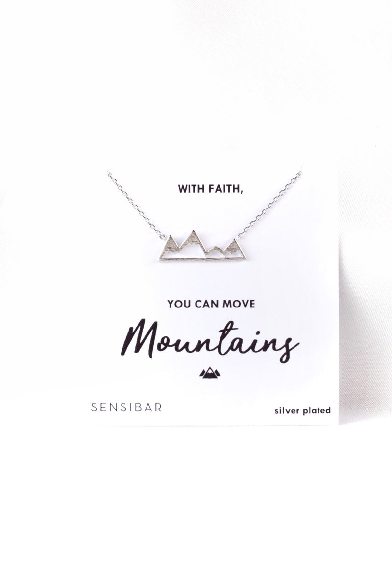 Move Mountains - Necklace (Silver)