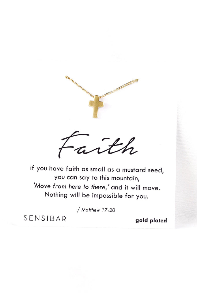Faith of a Mustard Seed - Necklace (Gold)