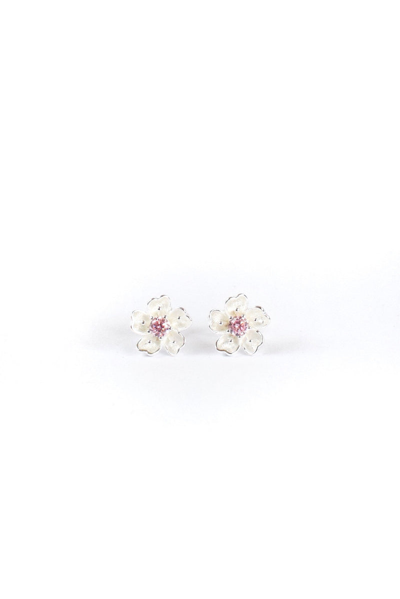 Sakura - Cherry Blossom Earrings <br>(Sterling Silver)