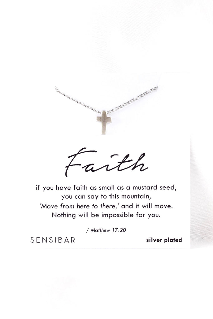 Faith of a Mustard Seed - Necklace (Silver)