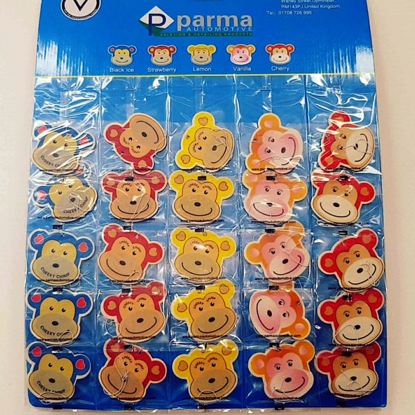 Cheeky Chimp Air Fresheners - Parma Automotive