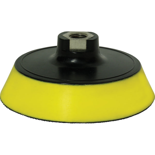 "FARECLA G MOP BACK PLATE WITH YELLOW INTERFACE PAD FOR 6"" PADS"