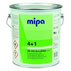 MIPA 4+1 Acrylic Filler HS filler Light Grey Primer Car Paint Primer filler 4L - Parma Automotive