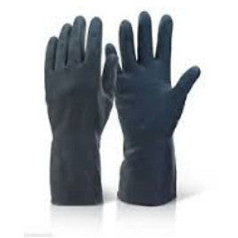 Heavyweight Black Rubber Gloves - Parma Automotive