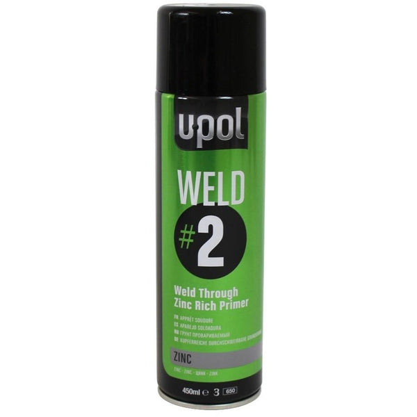 U-POL Weld #2 Weld Through Zinc Rich Primer (450ml) - Parma Automotive