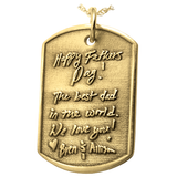 3D Engraved Dog Tag Pendant