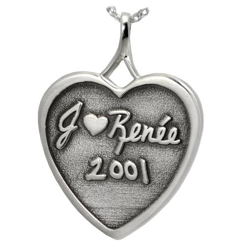 3D Engraved Heart Pendant