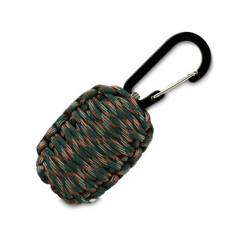 Paracord Survival Carabiner - Compact Tool with Fire Starter, Fishing Kit, First Aid and More