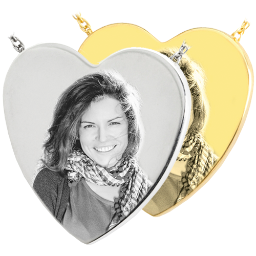 Photo Engraved Heart Pendant