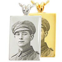 Photo Engraved Rectangle Pendant