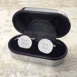 Circular Cufflinks in a Chrome Box