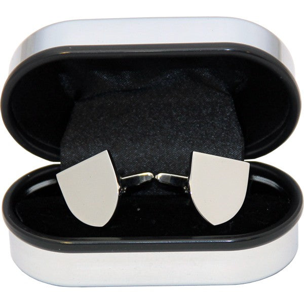 Shield Cufflinks in a Chrome Box