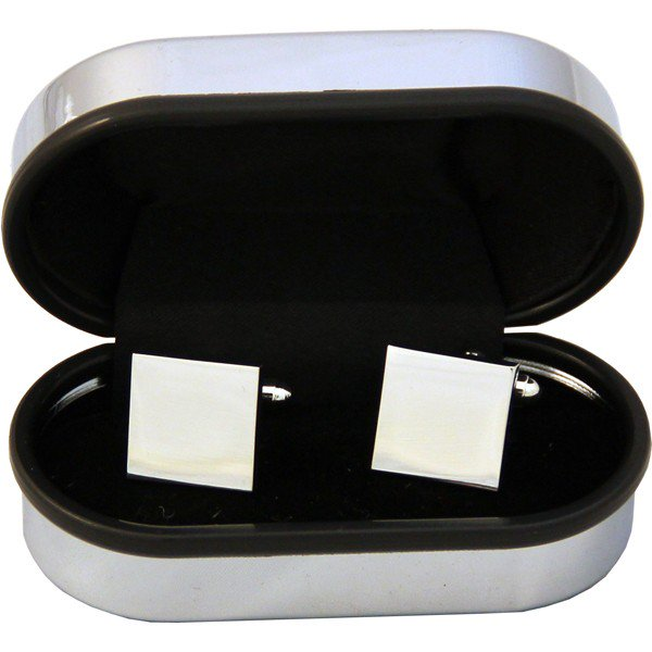 Square Cufflinks in a Chrome Box