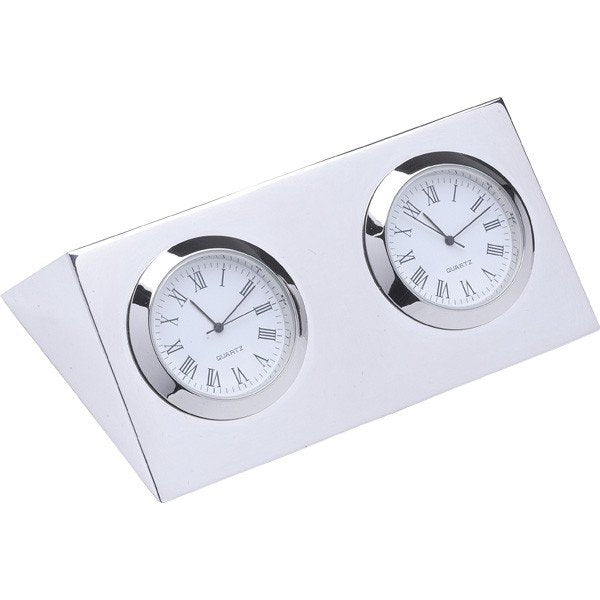 Two City Clock - Palladium Nickel Plated