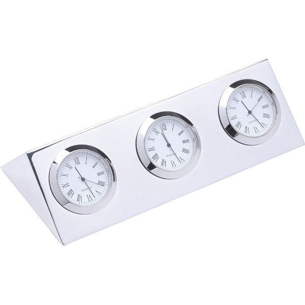 Three City Clock - Palladium Nickel Plated