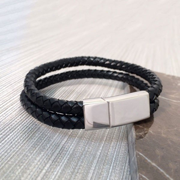 Gianni Double Layer Mens Bracelet