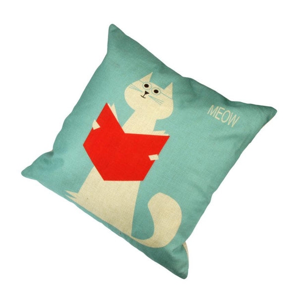 Cats Meow Cute Cushion Cover