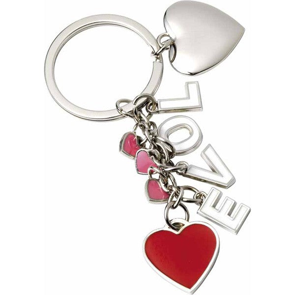 Love Letters Keyring with Red Heart