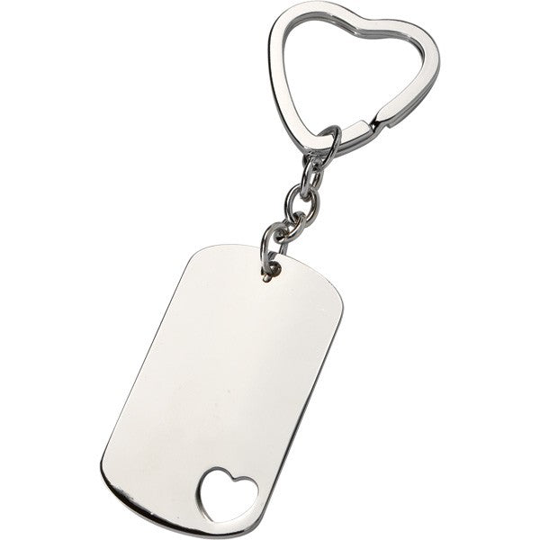 Heart ID Dog Tag Keyring