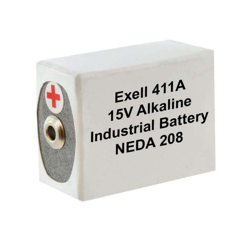 Exell 411A Alkaline 15V Battery Replaces NEDA 208, 10F20, BLR121