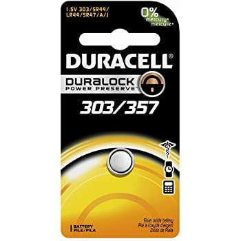 D303/357 SR44W EPX76 1.5V Duracell Watch Battery