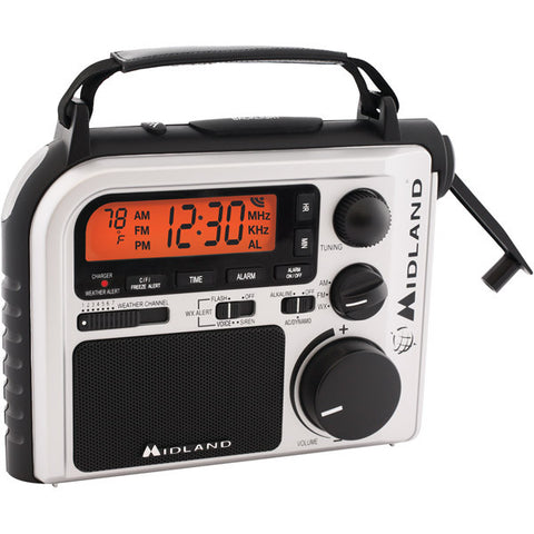 MIDLAND ER-102 EMERGENCY CRANK RADIO WITH AM/ FM AND WEATHER  ALERT