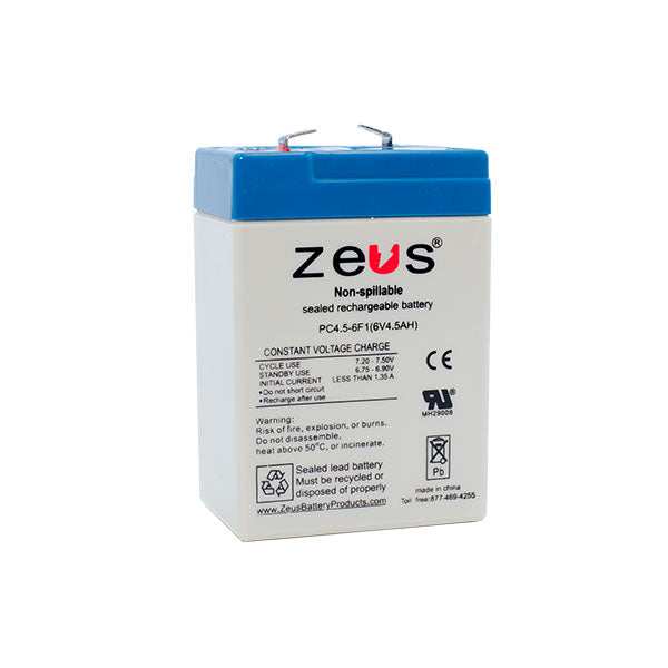 PC4.5-6F1 Zeus Sealed Rechargable Battery