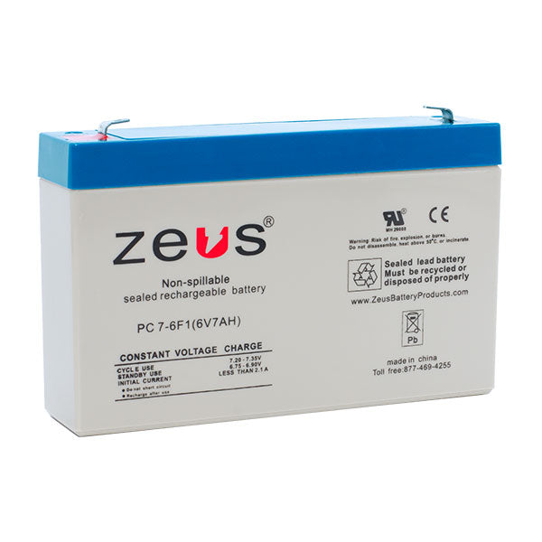 PC7-6F1 Zeus Sealed Rechargable Battery